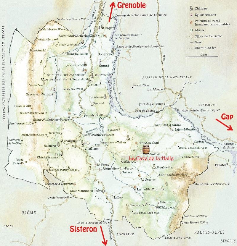 La carte du Trièves